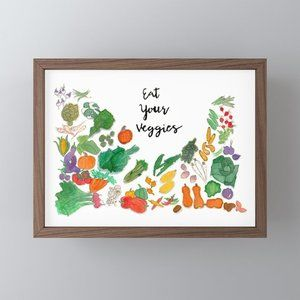 Other - EAT YOUR VEGGIES watercolor painting